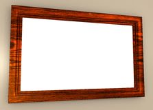 Blank Wood Picture Frame Stock Photos