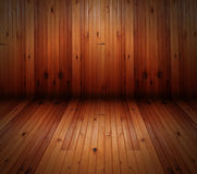 Blank Wood Room Wall Stock Image