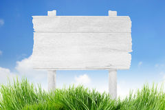 Blank wood sign Royalty Free Stock Images