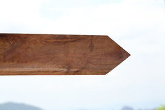 Blank wooden arrow guidepost. Stock Photography