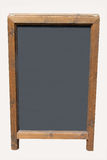 Blank wooden blackboard with copy space Stock Photo