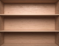 Blank wooden bookshelf Royalty Free Stock Photo
