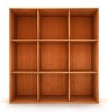 Blank wooden bookshelf Stock Photos