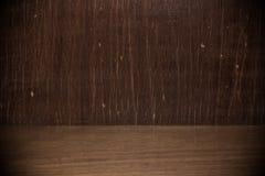 Blank wooden bookshelf Royalty Free Stock Photo