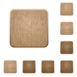 Blank wooden buttons Stock Photos