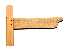 Blank wooden footpath signpost Royalty Free Stock Photography