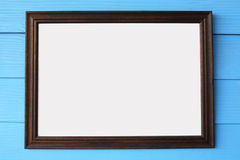 Blank wooden frame Stock Images