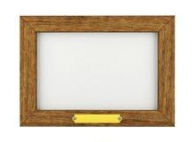Blank wooden frame. 3D render vector illustration
