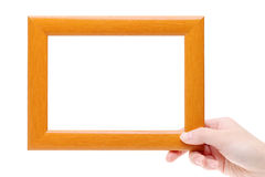 Blank wooden frame Royalty Free Stock Image