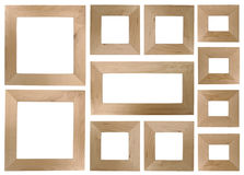 Blank wooden frames royalty free stock images