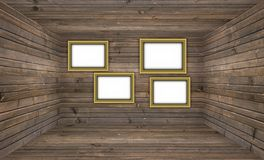 Blank Wooden Gallery Stock Photo
