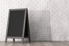 Blank Wooden Menu Blackboard Outdoor Display Stock Images