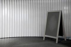Blank Wooden Menu Blackboard Outdoor Display Royalty Free Stock Photography