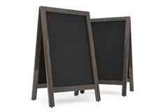 Blank Wooden Menu Blackboards Outdoor Display Stock Images
