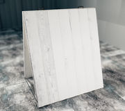 Blank wooden outdoor advertising. Mock up Royalty Free Stock Photo