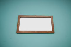Blank wooden Photo frame Royalty Free Stock Photos