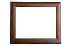 Blank wooden picture frame Stock Images