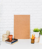 Blank wooden picture frame Royalty Free Stock Photography