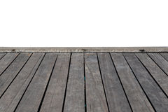 Blank wooden pier Stock Photography