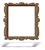 Blank wooden portrait frame isolated on white Stock Photography