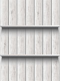 Blank wooden shelf Stock Photography