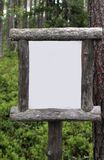 Blank wooden sign Stock Photos