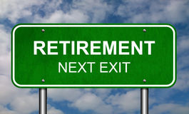 Retirement Road Sign Stock Image