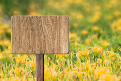 Blank wooden sign Royalty Free Stock Image
