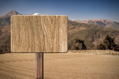 Blank wooden sign Royalty Free Stock Photos