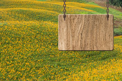 Blank wooden sign Stock Photos