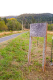 Blank Wooden Sign by Road Stock Image