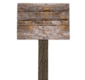 Blank Wooden Signboard ( Image isolated on White Background) Royalty Free Stock Image