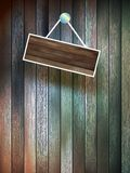 Blank wooden signboard on wall. plus EPS10 Royalty Free Stock Images