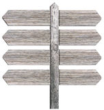 Blank wooden signpost Royalty Free Stock Images