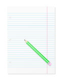 Blank Workbook Page With Pencil Royalty Free Stock Photo
