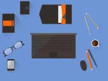 blank workspace för kontorspappersbrevpapper Arkivbilder