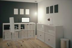 blank workspace för kontorspappersbrevpapper royaltyfri illustrationer