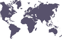 Blank world. Blank map of the World royalty free illustration
