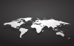 Blank world map. Modern style blank world map vector illustration