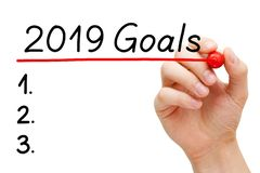 Blank Year 2019 Goals List Concept stock photo