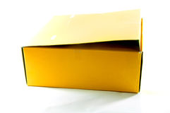 Blank yellow box Stock Images