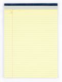 Blank Yellow Legal Pad Stock Images