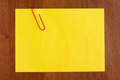 Blank yellow note Royalty Free Stock Images