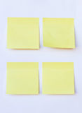 Blank yellow note on isolated white Stock Photography