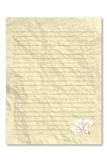 Blank Yellow note paper Royalty Free Stock Photo
