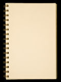 Blank yellow page notebook Royalty Free Stock Photo