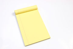 Blank yellow pages horizontal Royalty Free Stock Images