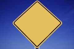 Blank Yellow Road Sign Royalty Free Stock Photos