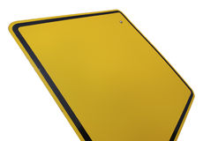 Blank Yellow Road Sign Royalty Free Stock Photography