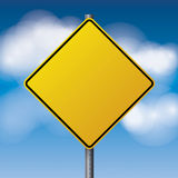 Blank Yellow Road Sign Illustration Royalty Free Stock Photography